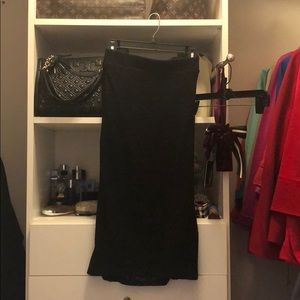 Torrid lace pencil skirt